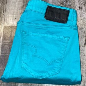 Big star blue cropped mid rise jeans